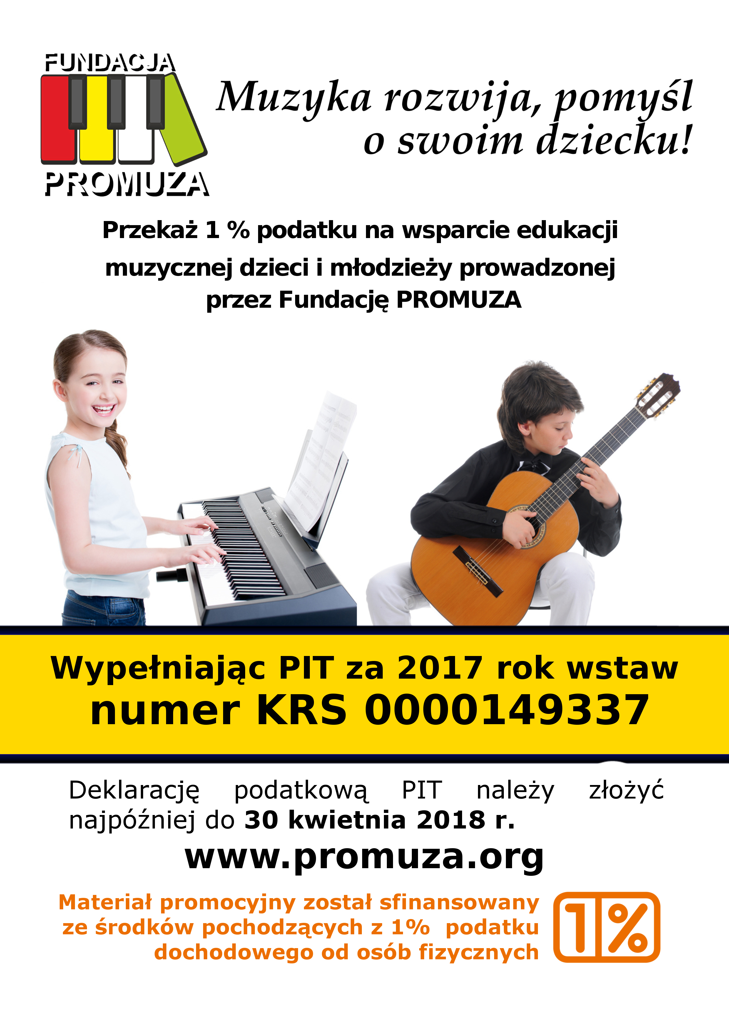 Nowy projekt Plakatu 1% Żółty 2